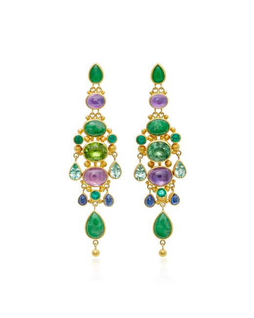 Mallary Marks | Green Chandelier Imperial Jade Earrings | Lyst