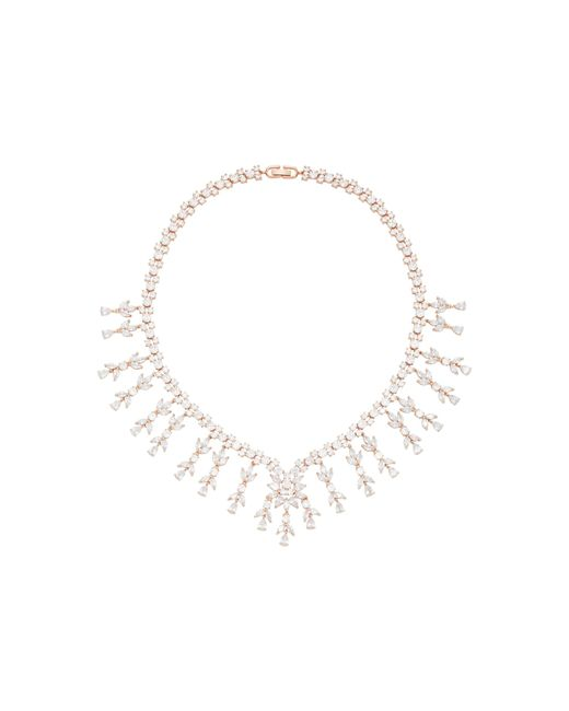 Fallon | Metallic Monarch Weeping Fern Metal And Crystal Necklace | Lyst