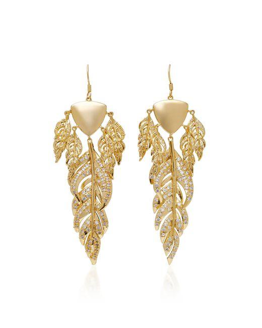 Fallon | Metallic Raven Gold-tone Chandelier Earrings | Lyst