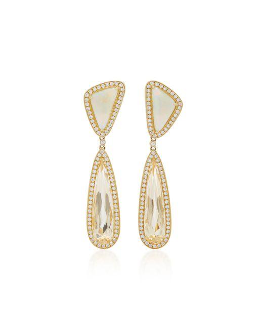 Dana Rebecca | White 14k Gold Multi-stone Earrings | Lyst