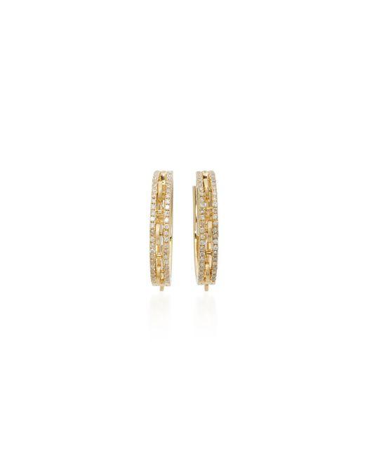Yvonne Léon   Metallic 18k Gold Diamond Hoop Earrings   Lyst