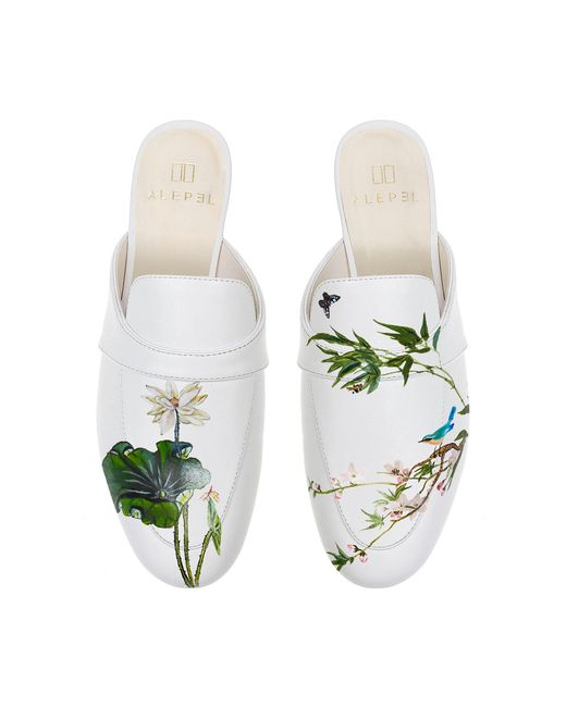 Alepel - M'o Exclusive: White Lotus Mule - Lyst
