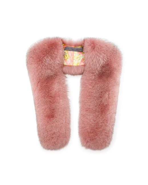 Pologeorgis - Pink Fox Fur Scarf - Lyst