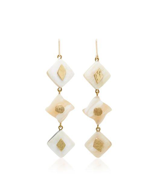 Ashley Pittman - White Julikana Light Horn Bronze Earrings - Lyst
