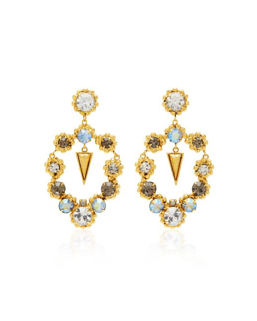 Nicole Romano - Metallic Palmer 18k Gold-plated Crystal Earrings - Lyst