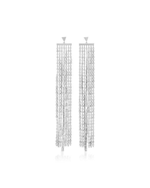 Fallon | Metallic Marquis Waterfall Sliver Earrings | Lyst