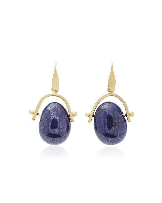 Isabel Marant - Blue Gold-tone Brass Pebble Earrings - Lyst