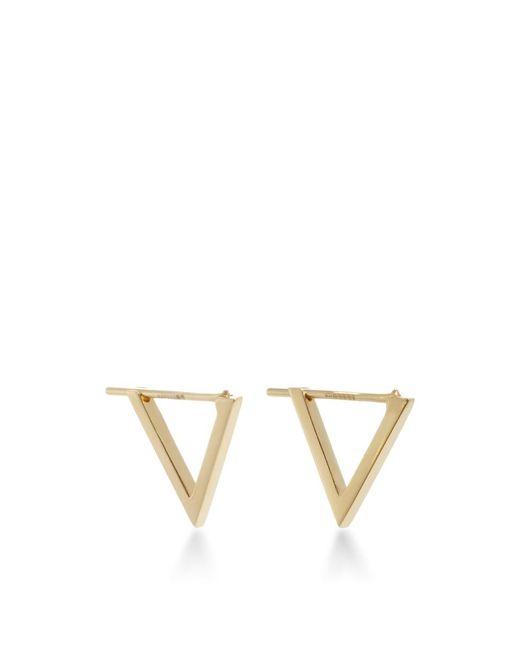 Noor Fares   Metallic Triangle Hoop Earrings   Lyst