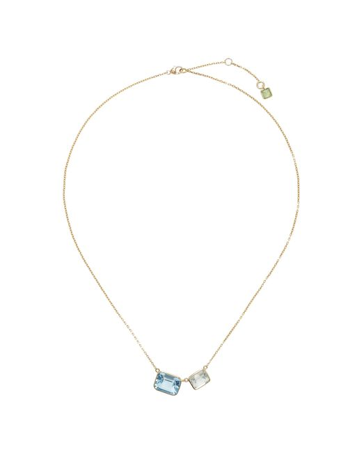 Yi Collection   Blue 18k Gold Topaz, Amethyst, And Peridot Necklace   Lyst