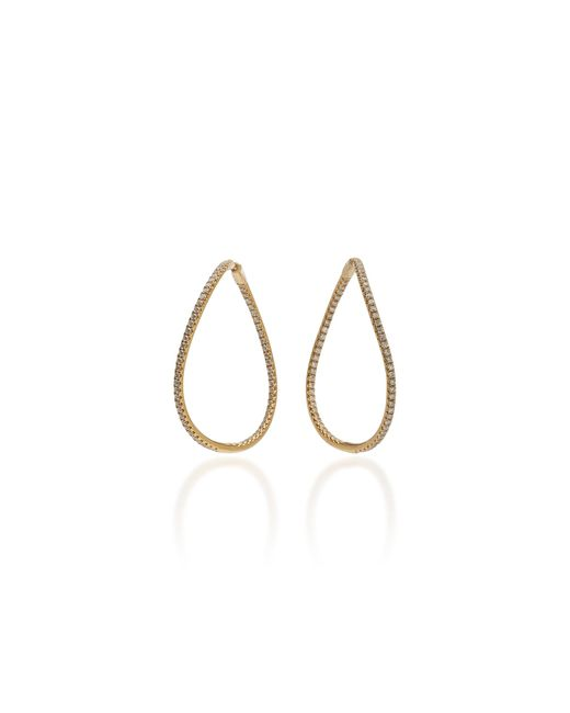 Anita Ko Metallic Twisted 18k Gold Diamond Earrings