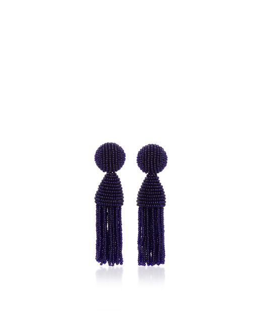 Oscar de la Renta | Black 'classic Short' Tassel Drop Earrings | Lyst