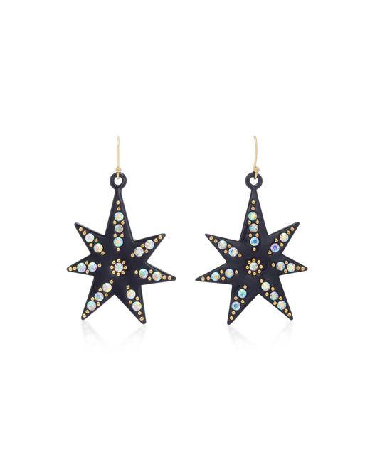 Lulu Frost - Black Orana Gold-plated Crystal Star Earrings - Lyst