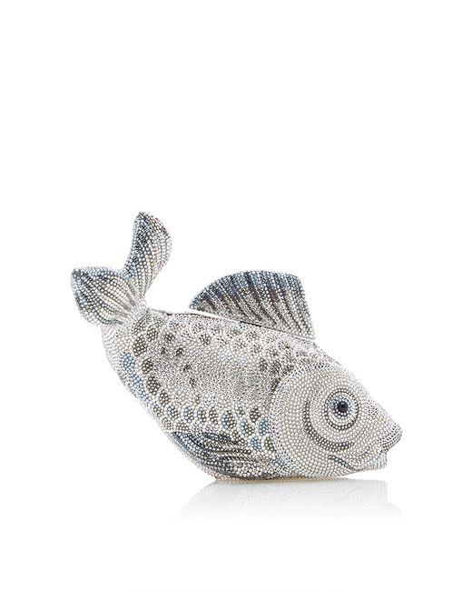Judith leiber couture koi fish clutch in silver lyst for Silver koi fish