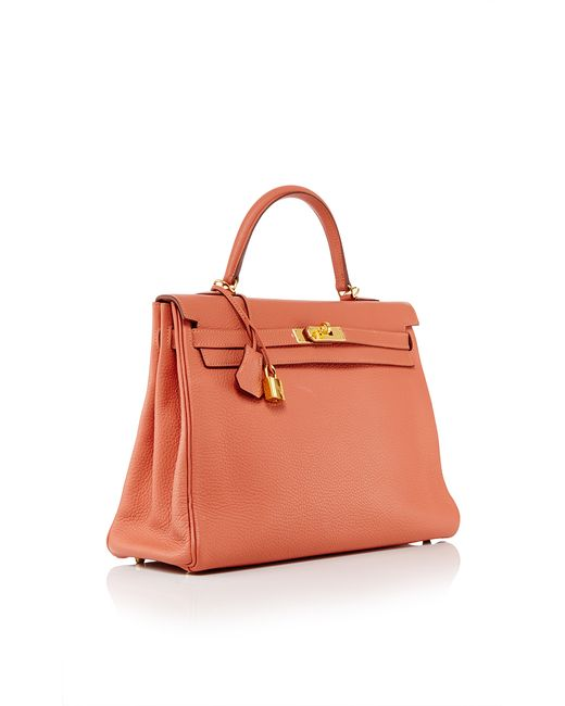 heritage auctions special collection hermes 35cm rose tea clemence leather retourne kelly