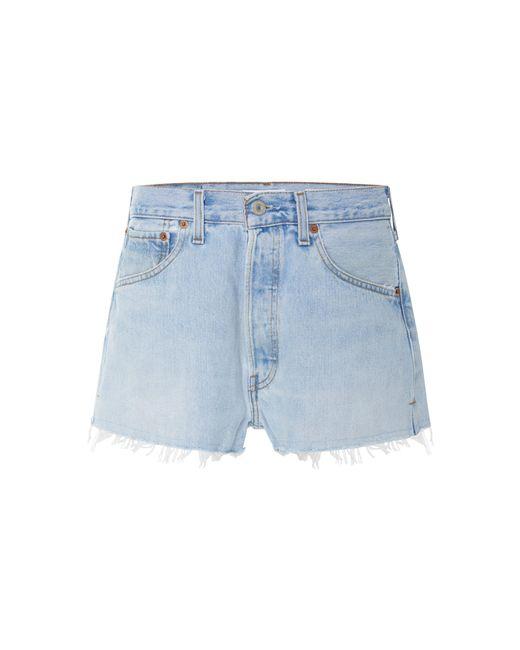 Re/done Blue Vintage Levi's Denim Shorts
