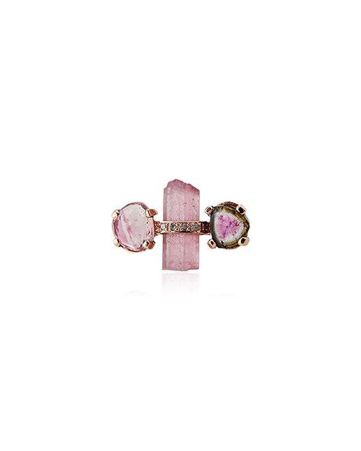 Jacquie Aiche - Pink Tourmaline Stud Single Earring - Lyst