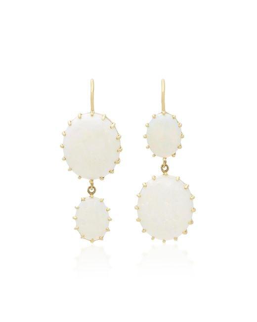 Renee Lewis | White 18k Gold Opal Earrings | Lyst