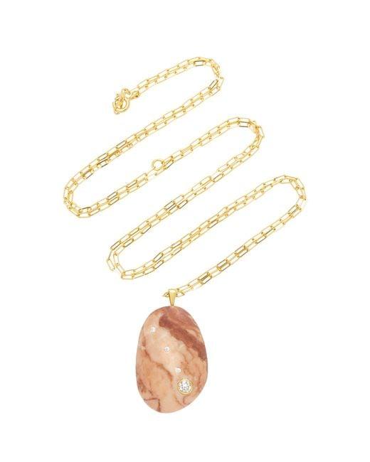 Cvc Stones - Metallic Buenos Aires 18k Gold, Beach Stone And Diamond Necklace - Lyst