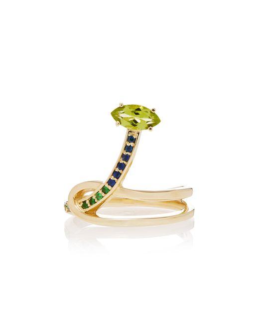 Bea Bongiasca | Metallic Gloriosa Lily 9k Rose Gold Multi-stone Ring | Lyst