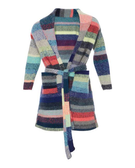 The Elder Statesman | Pink Kids Striped Cashmere Robe With Teddy Bear | Lyst