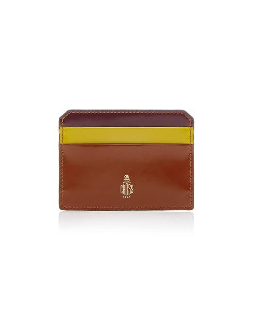 Mark Cross - Brown Brush Off Leather Cardholder - Lyst