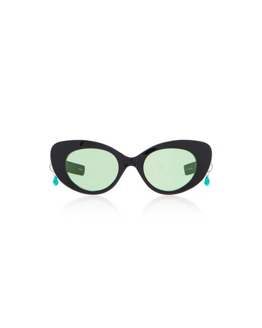 Pared Eyewear   Black M'o Exclusive Poms & Pared Acetate Cat-eye Sunglasses   Lyst