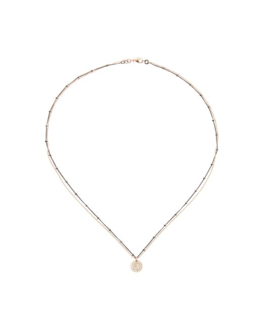 Nickho Rey - Pink 14k Rose Gold, Rhodium-plated Diamond Necklace - Lyst