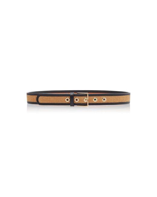 Maison Boinet Multicolor Leather-trimmed Waist Belt