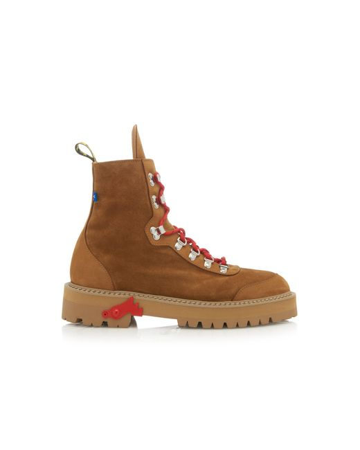 Off-White c/o Virgil Abloh Brown Suede Hiking Boots for men