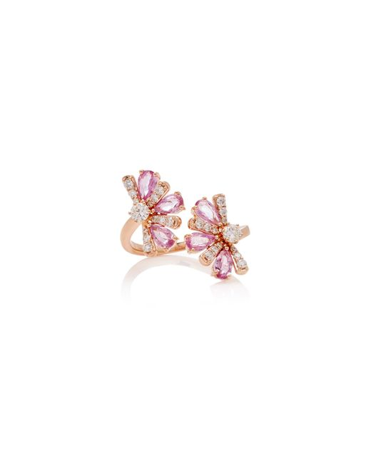 Hueb - Pink Exclusive 18k Rose Gold, Sapphire And Diamond Rings - Lyst