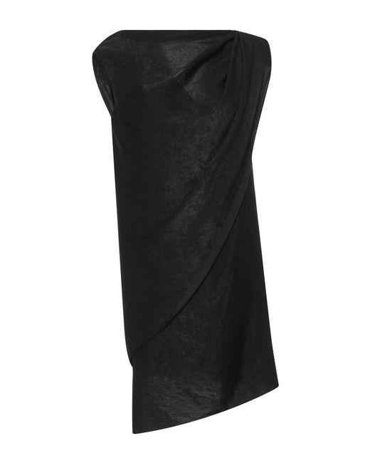 Hensely | Black One Shoulder Drape Top | Lyst