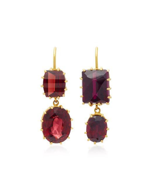 Renee Lewis | Brown 18k Gold Garnet Earrings | Lyst