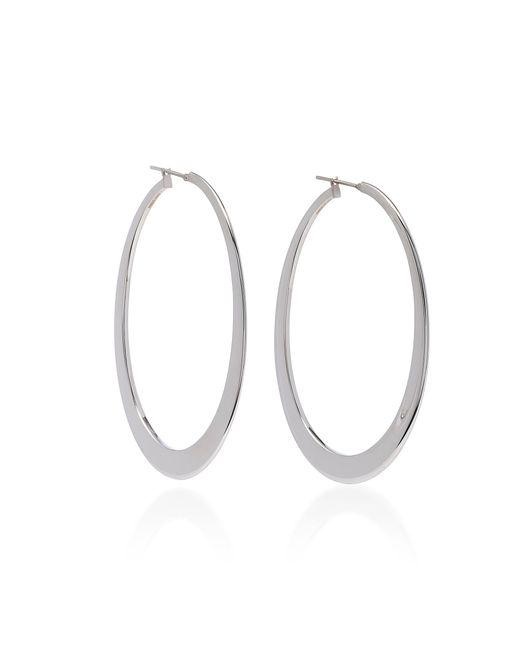 Sidney Garber - 18k White Gold Crescent Oval Hoop Earrings - Lyst