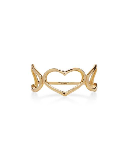 Jordan Askill | Metallic Yellow Gold Triple Heart Ring | Lyst