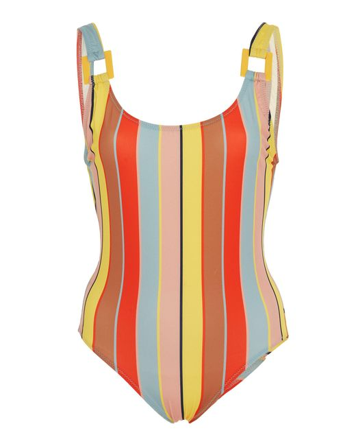 Solid & Striped - Multicolor Stella Buckle Striped One-piece Swimsuit - Lyst