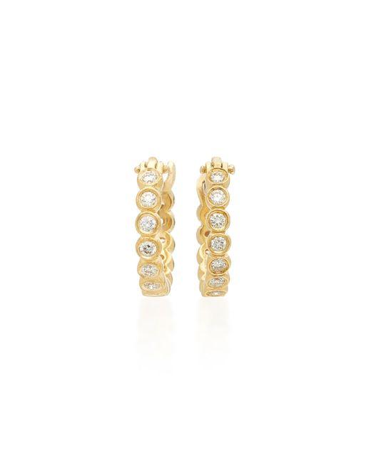 Octavia Elizabeth   Metallic Chloe 18k Gold Diamond Hoop Earrings   Lyst