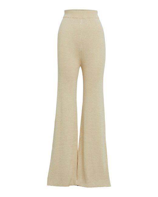 Anna Quan Natural Rio Cotton Wide-leg Pants