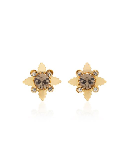 Nicole Romano | Metallic 18k Gold-plated Star Crystal Stud Earrings | Lyst