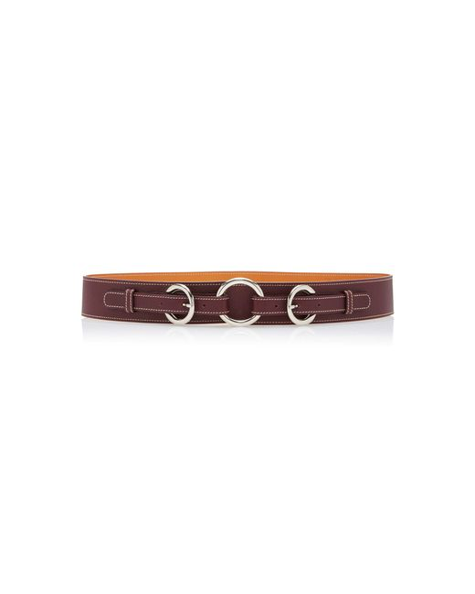 Maison Vaincourt - Brown M'o Exclusive Equestrian Ring Textured-leather Belt - Lyst
