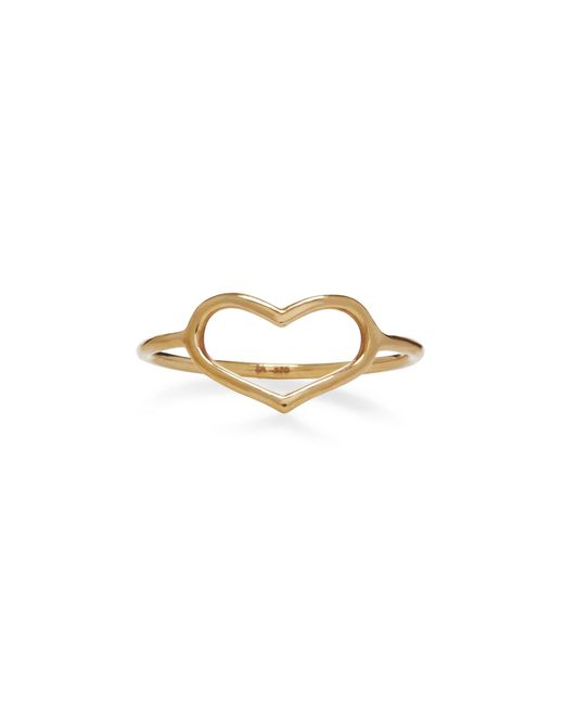 Jordan Askill - Metallic Yellow Gold Delicate Heart Ring - Lyst