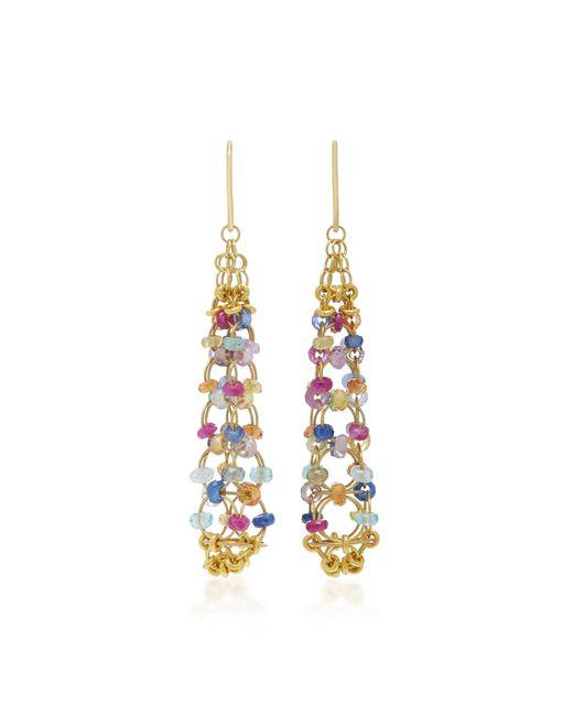 Mallary Marks - Metallic Eiffel Tower 18k Gold Multi-stone Earrings - Lyst