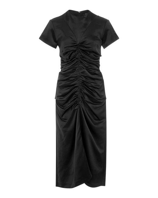 Isabel Marant   Black Else Ruched Dress   Lyst