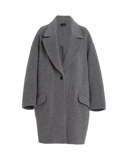 Isabel Marant Gray Fego Oversized Wool-blend Coat