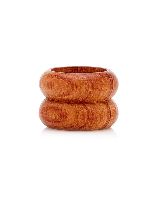 Uncommon Matters Brown Semibreve Wooden Ring