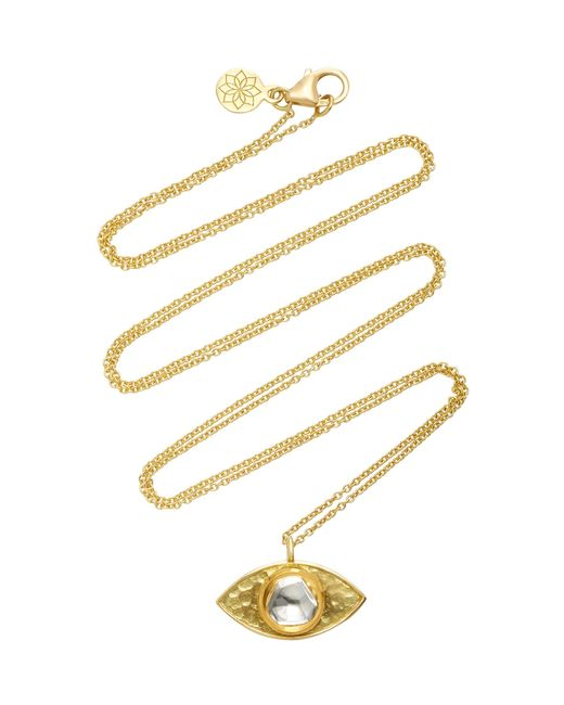 Amrapali - Metallic Kundan Vintage Diamond And 18k Gold Evil Eye Pendant Necklace - Lyst