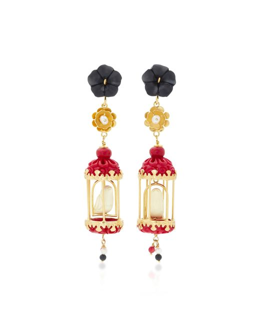 Of Rare Origin - Pink Aviary 18k Gold Multi-stone Earrings - Lyst
