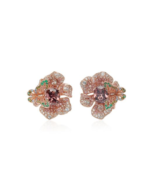 Anabela Chan - Brown M'o Exclusive Rose Peony Earrings - Lyst