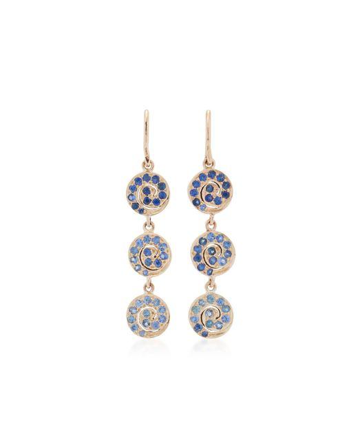She Bee - Blue 10k Gold Sapphire Earrings - Lyst