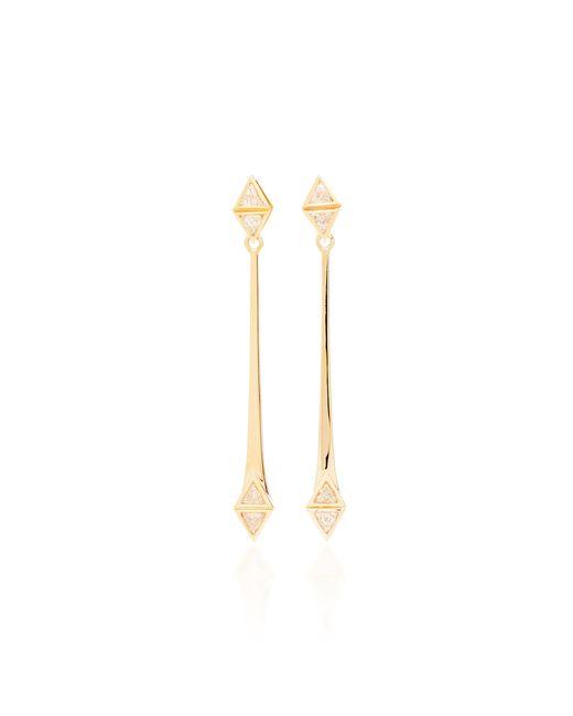 Melissa Kaye - Metallic Chloe May 18k Pink Gold Diamond Earrings - Lyst