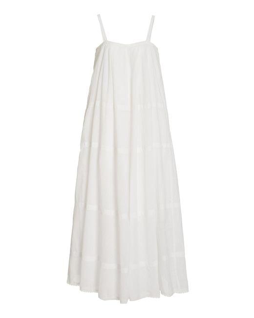 Posse White Exclusive Odette Cotton Midi Dress
